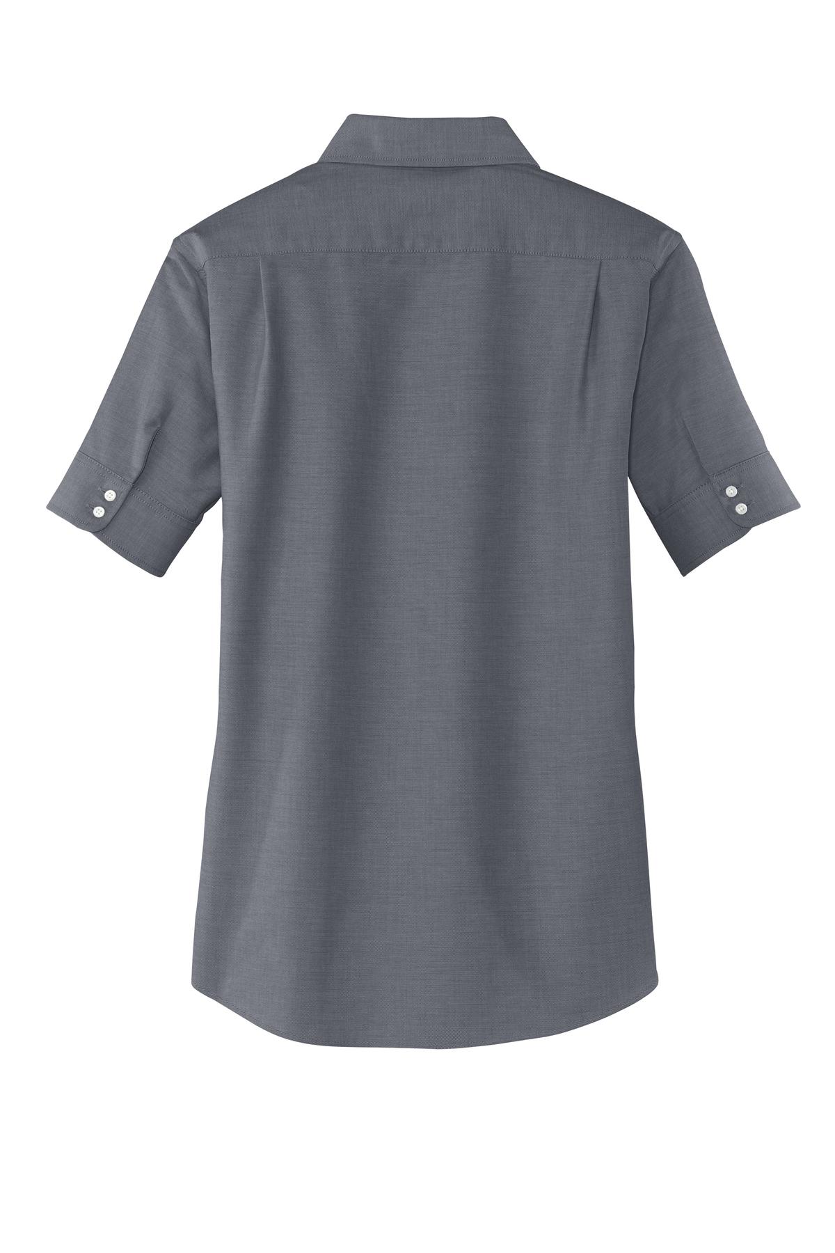 c3e2018dc66 Port Authority® Ladies Short Sleeve SuperPro™ Oxford Shirt - Concept ...