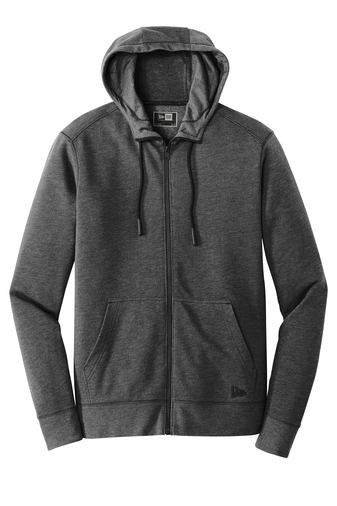 New Era Men's Triblend Fleece Pullover Zip Hoodie