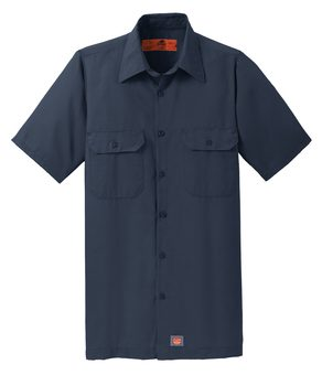 Red Kap® Men's Short Sleeve Solid Ripstop Shirt