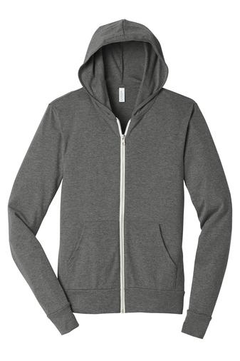 Bella+Canvas ® Unisex Triblend Full-Zip Lightweight Hoodie