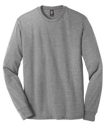Allmade Mens Tri-Blend Long Sleeve Crewneck Shirt