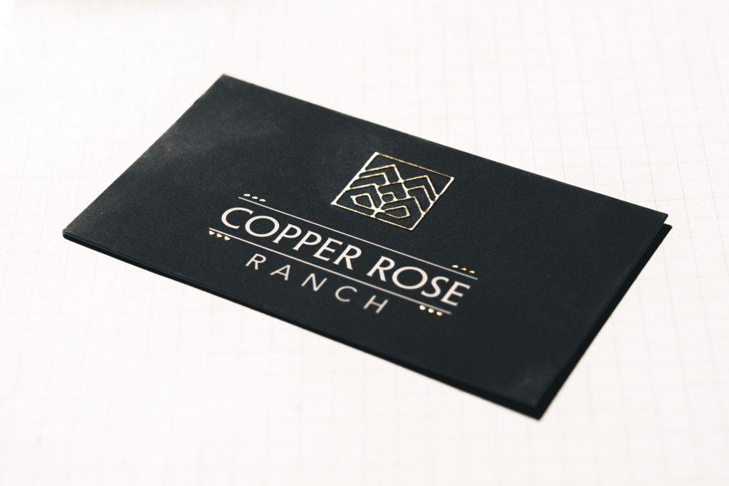 Business Cards: Suede Raised Foil