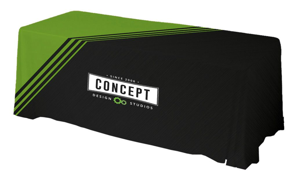 Tradeshow Full-Color Sublimated Table Throws